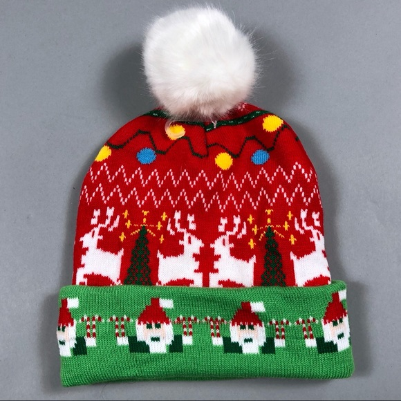 63fb38bd4e688 Charlotte Russe Accessories - Ugly Christmas Pom Pom sweater knit hat